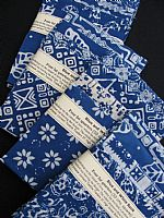 Photo of our Blue and White Batik 4 fat quarters