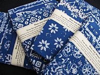 Photo 4 of our Blue and White Batik 4 fat quarters