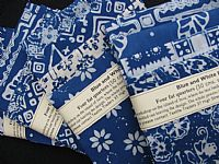Photo 5 of our Blue and White Batik 4 fat quarters