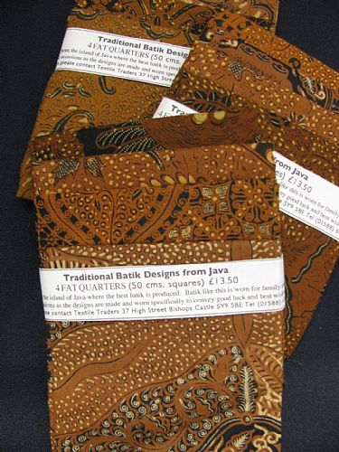 Photo of our Traditional Batik 4 fat quarters