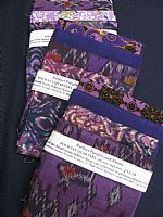 Photo of our Perfect Purples 4 fat quarters