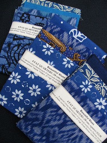 Photo of our Beautiful Blues 4 fat quarters