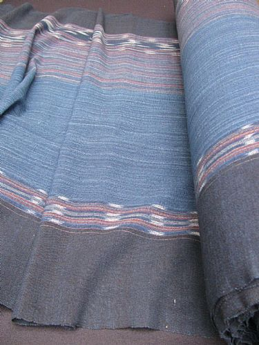 Photo of our Indigo hand woven ikat 2