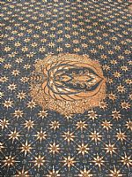 Vintage Javanese Batik Eagle Wings on Stars Design