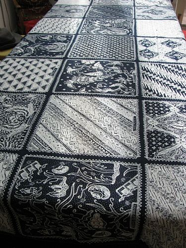 Photo of our Indigo and white sampler
