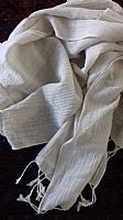 Cotton and linen mix scarf
