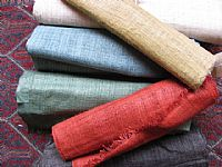 Photo 2 of our Handwoven narrow 100% hemp - various colours