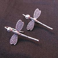 Silver dragonflies earrings