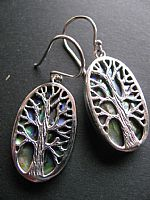 Photo of our Silver Tree of Life earrings