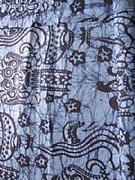 Photo of our Bali batik sarong sky blue