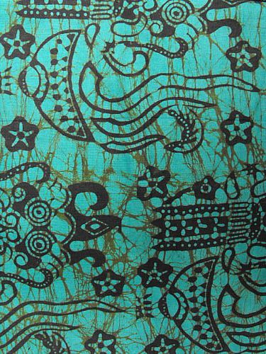 Photo of our Bali batik aqua