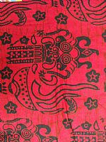 Photo of our Bali batik sarong scarlet red