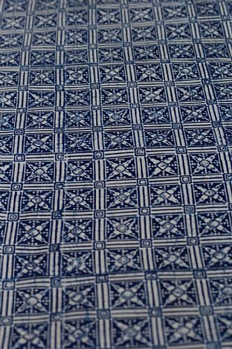 Photo of our Blue and White Batik Square Windows