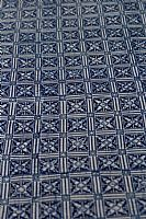 Blue and White Batik Square Windows