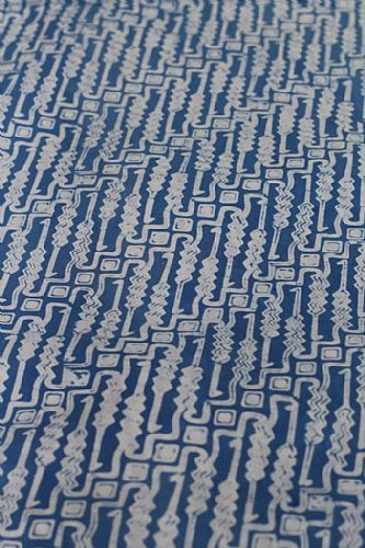 Photo of our Blue and White Batik Parang