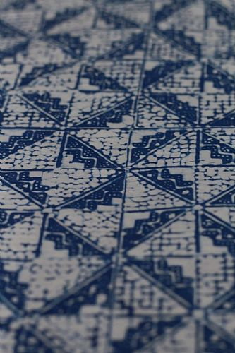 Photo of our Blue and White Batik four triangle squares