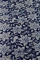 Blue and White Batik Big Flowers