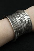 Photo 4 of our Silver basket weave bracelet