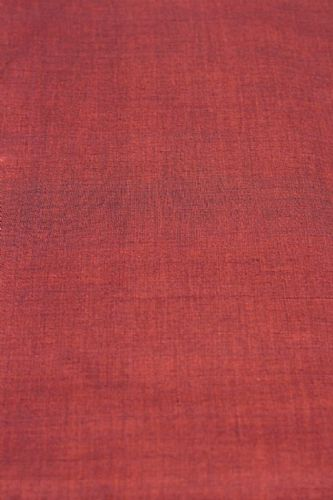 Photo of our Plain hand loomed fabric - Deep Terracotta Red
