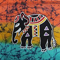 Photo of our One small batik elephant