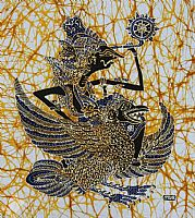 Rama riding Garuda Bird