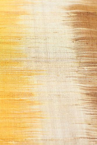 Photo of our Silk ikat shawl - shades of gold and caramel
