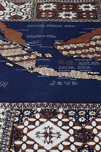 Photo of our Indonesia map sampler