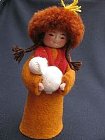 Photo 2 of our Lola (felt girl with lamb)