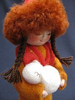 Lola (felt girl with lamb)