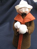 Photo of our Josef (felt shepherd with his lamb)