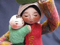 Photo 4 of our Sasha - felt doll with bundle and child