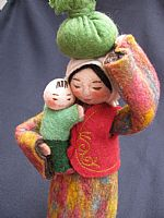 Photo 5 of our Sasha - felt doll with bundle and child