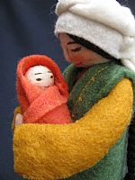 Photo 2 of our Marva - felt doll with newborn babe