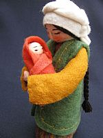 Photo 3 of our Marva - felt doll with newborn babe