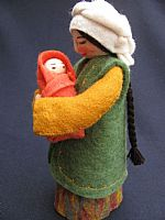 Photo 4 of our Marva - felt doll with newborn babe