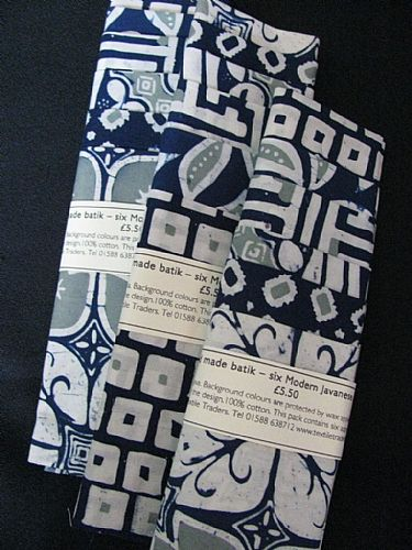 Photo of our Modern batik sample sets