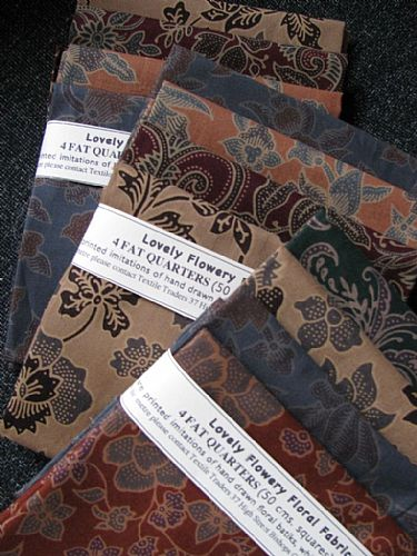 Photo of our Subtle Javanese 4 fat quarters
