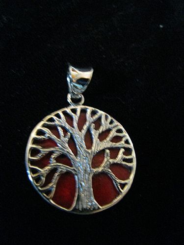 Photo of our Silver Tree of Life round pendant