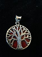 Photo of our Round Tree of Life silver pendant