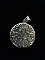 Photo 2 of our Round Tree of Life silver pendant