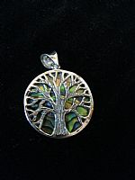 Photo 4 of our Round Tree of Life silver pendant