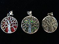 Photo 5 of our Round Tree of Life silver pendant