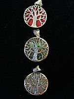 Photo 6 of our Round Tree of Life silver pendant
