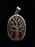 Photo of our Oval Tree of Life silver pendant