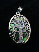 Photo 3 of our Oval Tree of Life silver pendant
