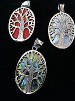 Photo 4 of our Oval Tree of Life silver pendant