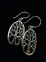 Photo 5 of our Oval Tree of Life silver earrings