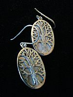 Photo 6 of our Oval Tree of Life silver earrings