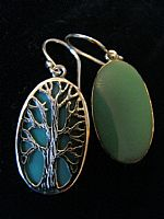 Photo 7 of our Oval Tree of Life silver earrings