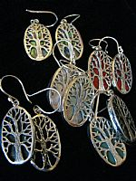Photo 10 of our Oval Tree of Life silver earrings